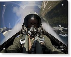 Pilot Takes A Self Portrait While Acrylic Print by HIGH-G Productions