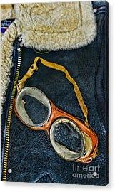 Pilot - Vintage Aviation Goggles Acrylic Print by Paul Ward
