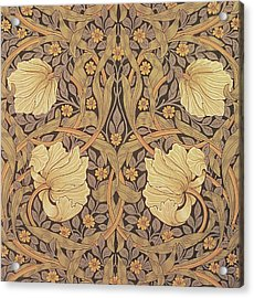 Pimpernel Wallpaper Design Acrylic Print by William Morris