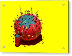 Pin Cushion Acrylic Print by Tom Mc Nemar
