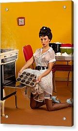 Pin-up Muffins Acrylic Print by Glenn Specht