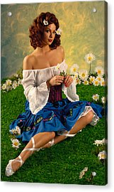 Pin-up Summer Acrylic Print by Glenn Specht