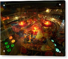 Pinball IIi Acrylic Print by Lanita Williams