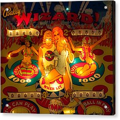 Pinball Wizard Tommy Vintage Acrylic Print
