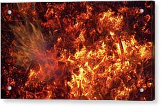 Pine Cones Burning In A Forest Fire Acrylic Print