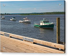 Pine Point Lobster Boat Line Acrylic Print