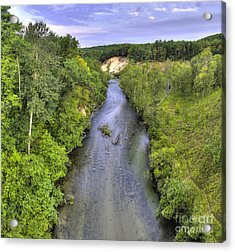 Pine River Acrylic Print by Twenty Two North Photography