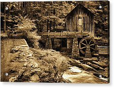 Pine Run Grist Mill Acrylic Print by Priscilla Burgers