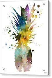 Pineapple 2 Acrylic Print by Watercolor Girl