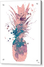 Pineapple 3 Acrylic Print by Watercolor Girl