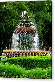 Pineapple Fountain 2 Acrylic Print by Randall Weidner