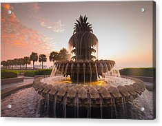 Acrylic Print featuring the photograph Pineapple Fountain by Serge Skiba