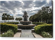 Pineapple Fountain Acrylic Print by Steven  Taylor