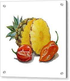 Pineapple Habanero Muy Caliente   Acrylic Print by Irina Sztukowski