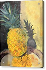 Pineapple On A Silver Tray Acrylic Print