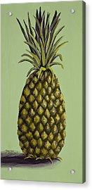 Pineapple On Green Acrylic Print