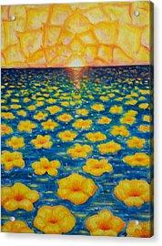 Pineapple Sunset Acrylic Print
