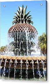 Pineapple Water Fountain In Charleston Acrylic Print