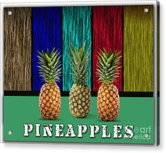 Pineapples Acrylic Print by Marvin Blaine