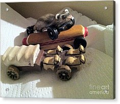 Pinewood Derby Art Acrylic Print by Mary Ellen Anderson