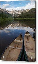 Piney Lake Acrylic Print by Aaron Spong