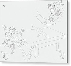 Ping Pong Cartoon Acrylic Print