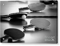 Acrylic Print featuring the pyrography Ping-pong by Evgeniy Lankin