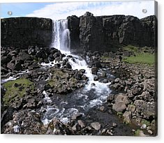 Acrylic Print featuring the photograph Pingvellir by Christian Zesewitz
