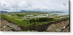 Pingvellir Thingvellir Iceland Panorama Acrylic Print