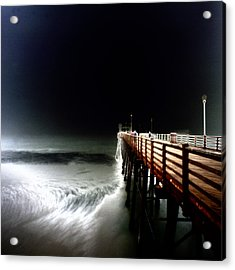 Pinhole Oceanside Pier Acrylic Print by Hugh Smith