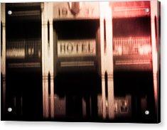 Pinholed Hotel  Acrylic Print