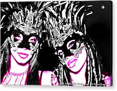 Pink And Black  Acrylic Print by Ley Clarie Gray