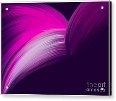 Pink And Purple Curves Acrylic Print