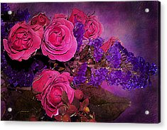 Pink And Purple Floral Bouquet Acrylic Print