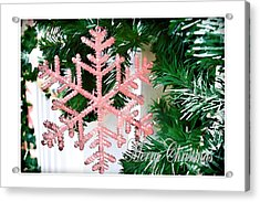 Pink Acrylic Print by Audreen Gieger