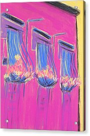 Pink Balcony Acrylic Print by Marcia Meade