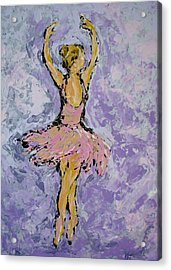 Pink Ballerina Acrylic Print by Kat Griffin