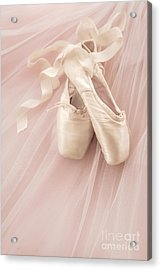 Pink Ballet Shoes Acrylic Print by Diane Diederich