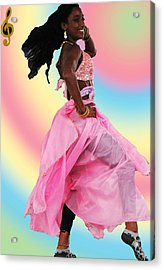 Pink Belly Dancer Acrylic Print