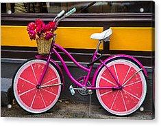 Pink Bike Acrylic Print