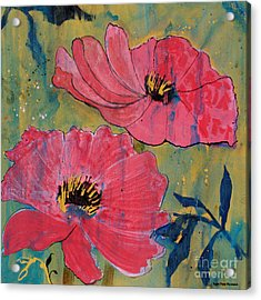 Acrylic Print featuring the painting Pink Blossoms by Robin Maria Pedrero