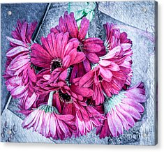 Pink Bouquet Acrylic Print by Susan Cole Kelly Impressions