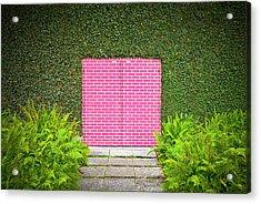 Pink Brick Door Acrylic Print