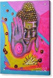Pink Buddha Acrylic Print