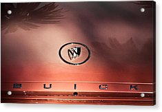 Pink Buick Acrylic Print by Merrick Imagery