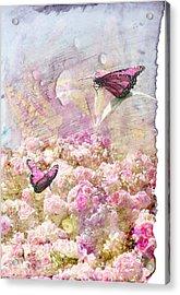 Pink Butterflies Acrylic Print by Juli Cromer