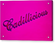 Pink Cadillicious Acrylic Print by Phil 'motography' Clark