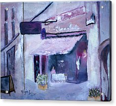 Acrylic Print featuring the painting Pink Cafe II by Aleezah Selinger