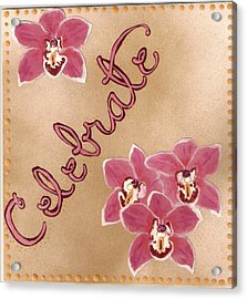 Pink Celebration Acrylic Print by Santoshia  Daise