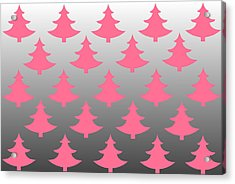 Pink Christmas Acrylic Print by Chastity Hoff